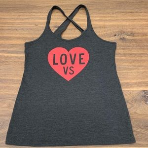Victoria's Secret Gray Love Heart Tank Top